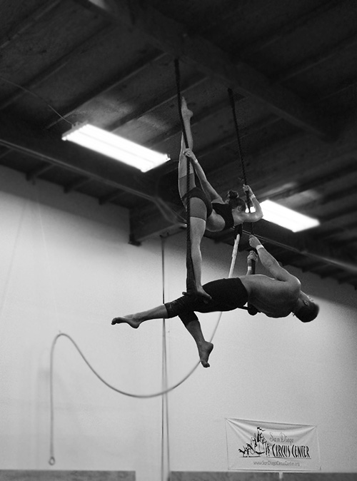 Duo Trapeze at San Diego Circus Center