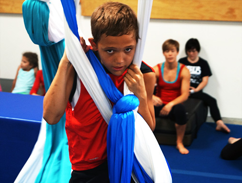 Training Aerial Silks at San Diego Circus Center