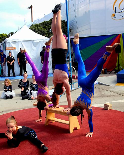 Handstand act La Jolla Art and Wine Festival 2013