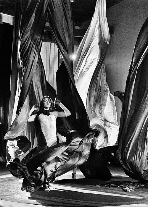 Anna performing Aerial Silk