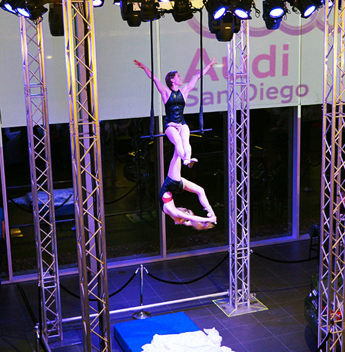 Duo-Trapeze Audi A3 Launch Party